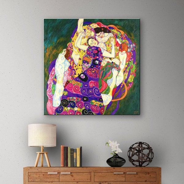 "ArtWall /""Virgins/"" by Gustav Klimt Gallery Wrapped Canvas"