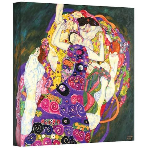 Gustav Klimt 'Virgins' Gallery Wrapped Canvas
