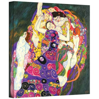 Gustav Klimt 'Virgins' Gallery Wrapped Canvas