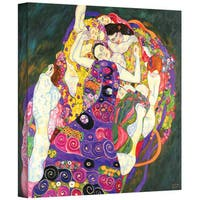 Gustav Klimt 'Virgins' Gallery Wrapped Canvas - multi