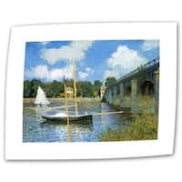 Claude Monet 'The The Bridge of Argenteuil' Flat Canvas