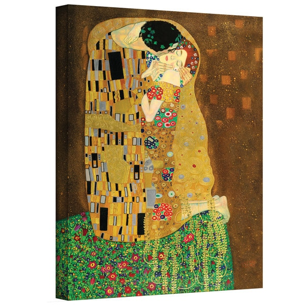 Shop Gustav Klimt \'The Kiss\' Gallery Wrapped Canvas - On Sale - Free ...
