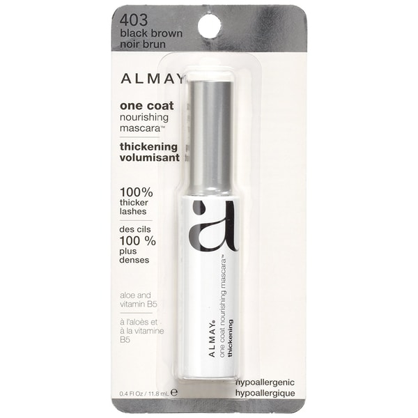 5faa95fc3da Shop Almay One Coat Thickening Mascara Black Brown 403 - Free Shipping On  Orders Over $45 - Overstock - 7634219