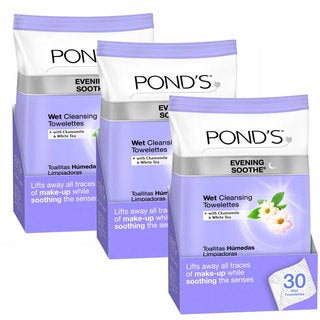 Pond's Chamomile and White Tea 30-count Wet Cleansing Towelettes (Set of 3)