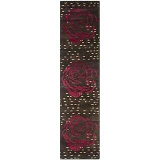 Safavieh Handmade Wyndham Charcoal New Zealand Wool Rug (2'3 x 9')