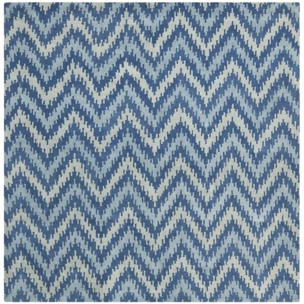 Safavieh Handmade Wyndham Blue New Zealand Wool Rug (7' x 7' Square)