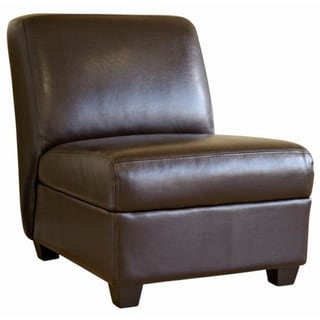 Baxton Studio Mocha Brown Faux Leather Chair