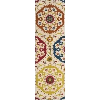 Safavieh Handmade Wyndham Ivory New Zealand Wool Rug (2'3 x 8')