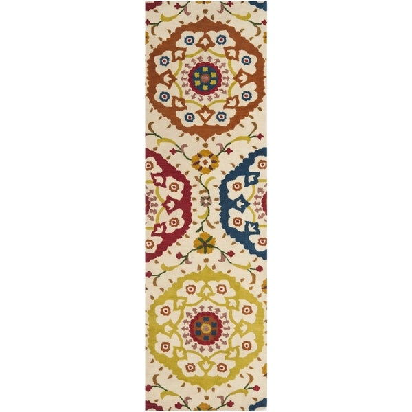 Safavieh Handmade Wyndham Ivory New Zealand Wool Rug (2'3 x 8') - 2'3 x 8'