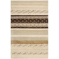 Safavieh Handmade Wyndham Geometric Ivory New Zealand Wool Rug - 4' x 6'