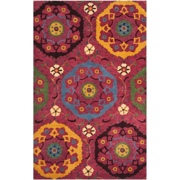 Safavieh Handmade Wyndham Red New Zealand Wool Area Rug (4' x 6')
