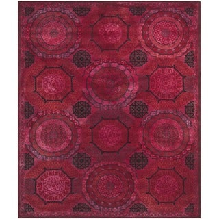 Safavieh Handmade Wyndham Red New Zealand Wool Rug (8' x 10')