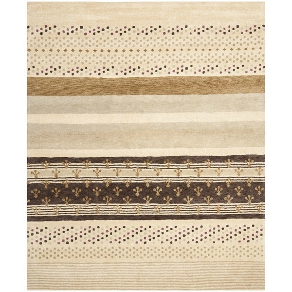 Safavieh Handmade Wyndham Ivory New Zealand Wool Area Rug (8' x 10')