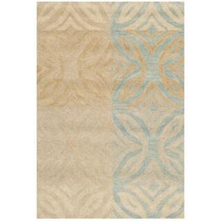 Safavieh Handmade Wyndham Modern Beige New Zealand Wool Rug (2' 6 x 4')