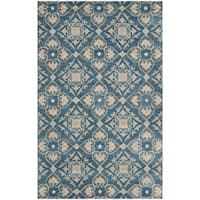 Safavieh Handmade Wyndham Blue New Zealand Wool Rug - 5' x 8'