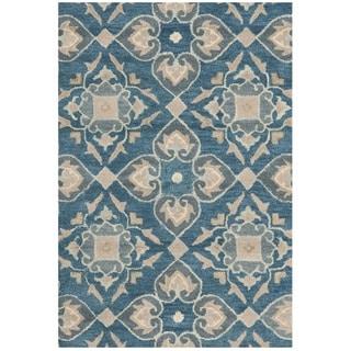 Safavieh Handmade Wyndham Blue New Zealand Wool Rug (2' 6 x 4')