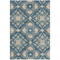 Safavieh Handmade Wyndham Blue New Zealand Wool Rug - 2'6' x 4'