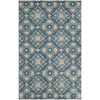 Safavieh Handmade Wyndham Blue New Zealand Wool Rug - 8' x 10'