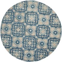 Safavieh Handmade Wyndham Blue New Zealand Wool Rug - 7' Round