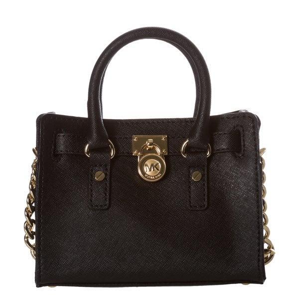 MICHAEL Michael Kors Mini 'Hamilton' Black Saffiano Leather Messenger Bag