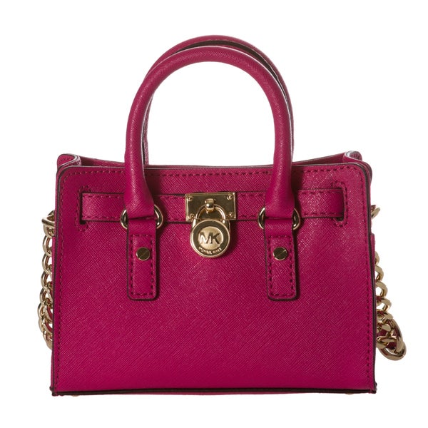 Michael Kors Mini X27 Hamilton Electric Pink Saffiano Leather