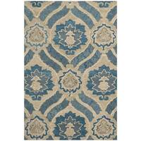 Safavieh Handmade Wyndham Blue New Zealand Wool Rug - 2'6 x 4'