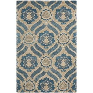 Safavieh Handmade Wyndham Blue New Zealand Wool Rug (4' x 6')