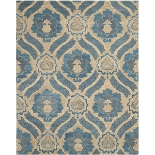 Safavieh Handmade Wyndham Contemporary Blue New Zealand Wool Rug (8' x 10')