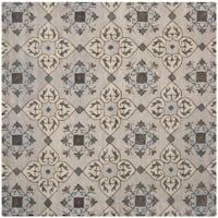 Safavieh Handmade Wyndham Beige New Zealand Wool Rug - 7' x 7'
