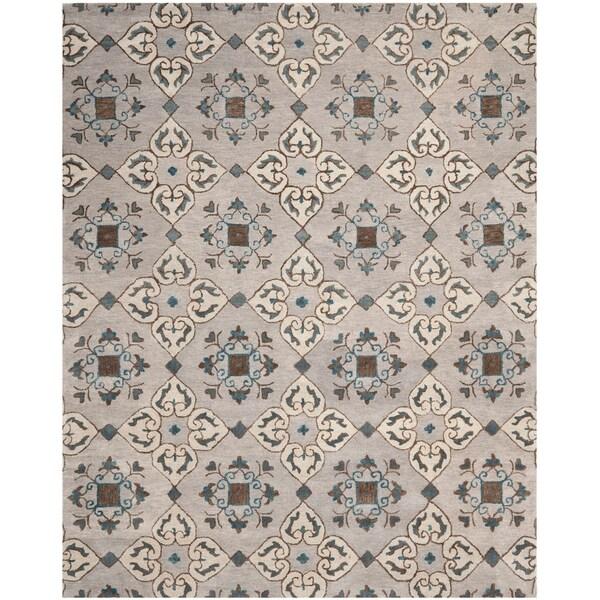 Safavieh Handmade Wyndham Beige New Zealand Wool Rug - 8' x 10'