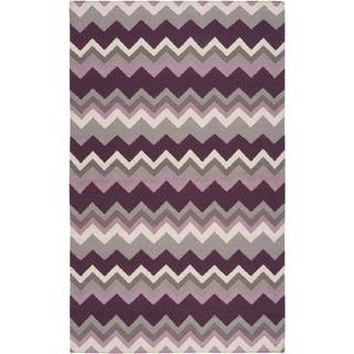 Hand-woven Chevron Wool Area Rug
