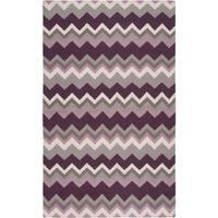 Hand-woven Chevron Wool Area Rug - 2' x 3'