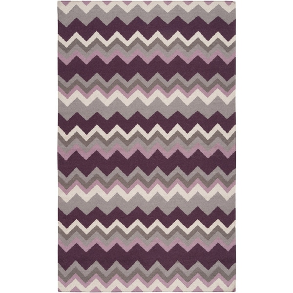Handwoven Chevron Wool Rug (8' x 11')