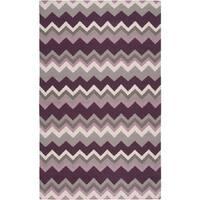 Hand-woven Chevron Wool Area Rug - 8' x 11'