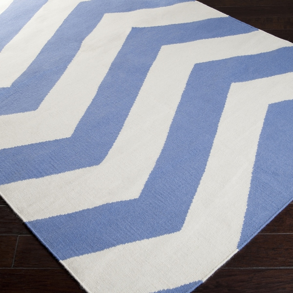 Handwoven Spring Chevron Spring Wool Rug (5 x 8)