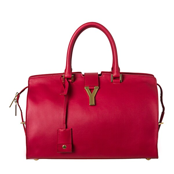 Yves Saint Laurent 'Cabas Classique Y' Red Leather Tote Bag