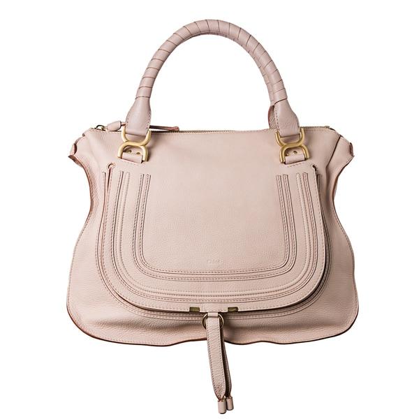Chloe 'Marcie' Large Light Pink Leather Shoulder Bag