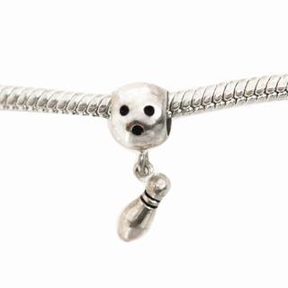 De Buman Sterling Silver Bowling Charm Bead