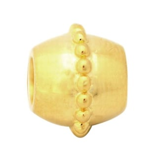De Buman Gold over Silver Charm Bead