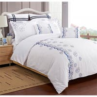 Miranda Haus Samantha 7-piece Embroidered Microfiber Duvet Cover Set