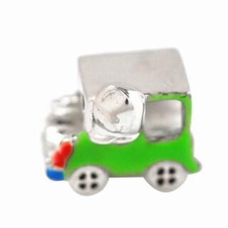 De Buman Sterling Silver Enamel Car Charm Bead