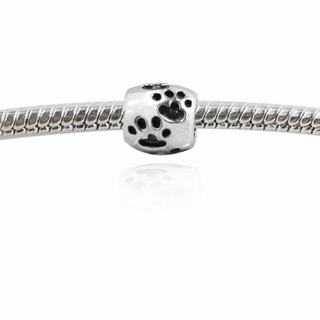 De Buman Sterling Silver Footmark Charm Bead
