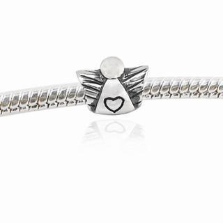 De Buman Sterling Silver Heart Charm Bead