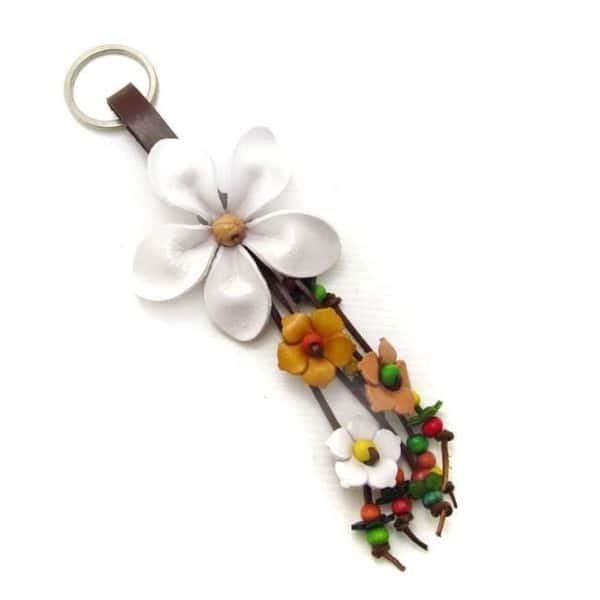 In Bloom Red Daisy Keychain