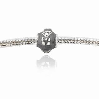 De Buman Sterling Silver Little Bear Charm Bead