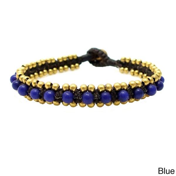 Tribal Allure Mix Stones Single Stand Bracelet (Thailand)