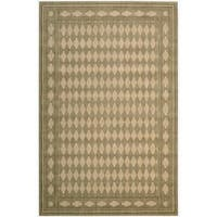 Cosmopolitan Honey Diamond Print Rug - 3'6 x 5'6