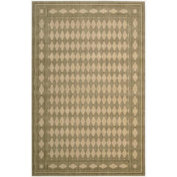 Cosmopolitan Diamond Print Honey Wool Rug (5'3 x 8'3)