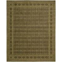 Cosmopolitan Diamond Print Cocoa Wool Rug - 7'6 x 9'6