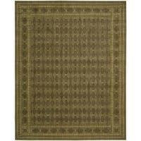 Cosmopolitan Diamond Print Cocoa Wool Rug - 8'3 x 11'3
